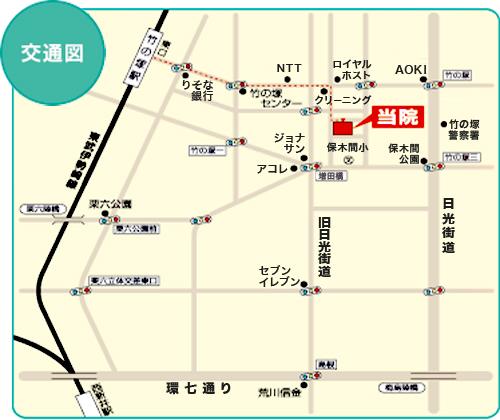 勝和会病院 地図